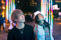 Young Japanese couple looking up Christmas lights (Apricot Cafe) Tags: img4389 akasaka asianethnicity japan japaneseethnicity tokyo christmaslights collaboration communication couple dating enjoy happiness lovely night peaceful togetherness youngadult minatoku 東京都 jp sigma35mmf14dghsm