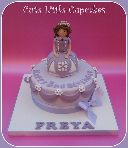 Amazing Princess Sofia Birthday Cake A Photo On Flickriver Birthday Cards Printable Benkemecafe Filternl