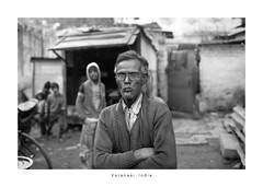India Portrait - Varanasi (Vincent Karcher) Tags: asia india varanasi vincentkarcherphotography art beauty blackandwhite culture documentary human noiretblanc people portrait project reportage rue street travel voyage world man homme