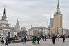 Moscow Streets (roevin | Urban Capture) Tags: moskva moscow russia ru square building buildings city charges gate people visitors public space urban center tower sight clouds stalin sevensisters architecture station komsomolskaya