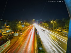 First attempt in Light Trail Reviews appreciated.. (clone_momentz (ViraJ ShaH)) Tags: lighttrail firstattempt highway lights car mumbai maharashtra india