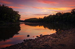 Riverside (Pásztor András) Tags: andras hungary pasztor photography nature landscape colorful tisza river shore water forest trees leafs foliage stone sand grass reflection clouds sun light sunset hdr dslr nikon d5100 nikor 1870mm fine mood calmness