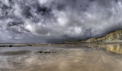 I can't be trusted (pauldunn52) Tags: traeth mawr witche spoint glamorgan heritage coast wales wet sand reflections canon eos d europe