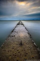Carrickfergus Groyne (Stephen_Lavery) Tags: belfastlough carrickfergus groyne cloud concrete cross horizon marker ocean post sea sky walkway water wave