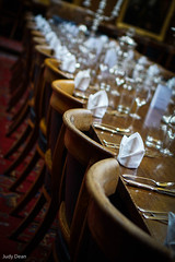 Fine Dining (judy dean) Tags: judydean 2016 sonya6000 oxford college dining table chairs settings napkins glasses cutlery