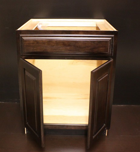 """Kraftmaid Cherr Bathroom Vanity Sink Base Cabinet 27"""" W"""
