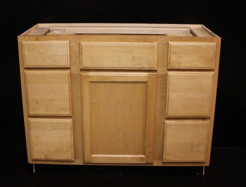 "Kraftmaid Maple Bathroom Vanity Sink Base Cabinet 42""w 