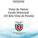 Visita de alunos da Escola Municipal CEI Bela Vista do Paraíso Linhas do conhecimento 21/05/2019