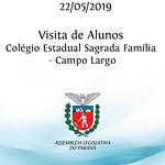 Visita do Colégio Estadual Sagrada Família  - Campo Largo - 22/05/19