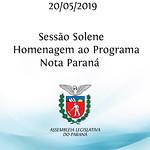 Sessão Solene em homenagem ao Programa Nota Paraná
