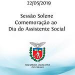Sessão Solene em Comemoração ao Dia do Assistente Social 22/05/2019