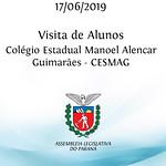 Visita de alunos do Colégio Estadual Manoel Alencar Guimarães - CESMAG