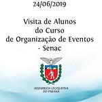Visita de alunos do curso de Organização de Eventos - Senac
