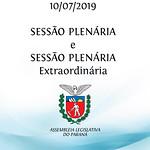 Sessão Plenária e Sessão Plenária Extraordinária 10/07/2019