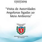 Visita de autoridades angolanas ligadas ao meio ambiente. 17/07/2019