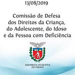 Comissão de Defesa dos Direitos da Criança, do Adolescente, do Idoso e da Pessoa com Deficiência 13/08/2019