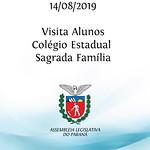 Visita alunos Colégio Estadual Sagrada Família