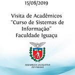 Visita de acadêmicos do curso de sistemas de informação da Faculdade Iguaçu.