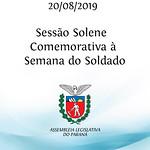 Sessão Solene Comemorativa à Semana do Soldado