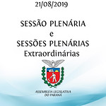 Sessão Plenária e Sessões Plenárias Extraordinárias 21/08/2019