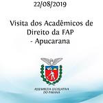 Visita dos acadêmicos de Direito da FAP - Apucarana