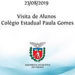 Visita de alunos do Colégio Estadual Paula Gomes