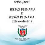 Sessão Plenária e Sessão Plenária Extraordinária 09/09/2019