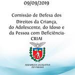 Comissão de Defesa dos Direitos da Criança, do Adolescente, do Idoso e da Pessoa com Deficiência (CRIAI)