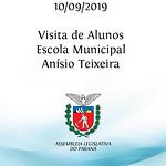 Visita de Alunos da Escola Municipal Anísio Teixeira. 10/09/2019
