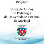 Visita de alunos de Pedagogia da Universidade Estadual de Maringá - 13/09/19