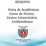 Visita de acadêmicos do curso de Direito, do Centro Universitário UniDomBosco