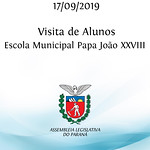 Visita dos alunos da Escola Municipal Papa João XXVIII