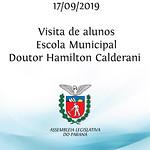 Visita dos alunos da Escola Municipal Doutor Hamilton Calderani 17/09/2019