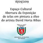 Espaço Cultural -  Abertura da Exposição de telas em pintura a óleo pelo artista David Horta Ribas