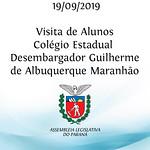 Visita de alunos do Colégio Estadual Desembargador Guilherme de Albuquerque Maranhão