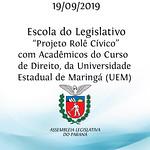 Projeto Rolê Cívico com acadêmicos do curso de Direito, da Universidade Estadual de Maringá (UEM)