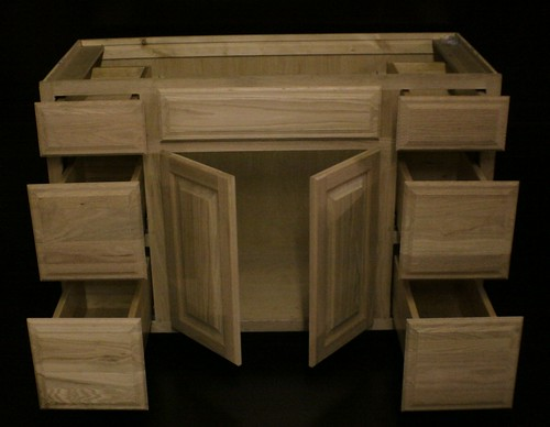 about kraftmaid unfinished oak bathroom vanity sink base cabinet 48